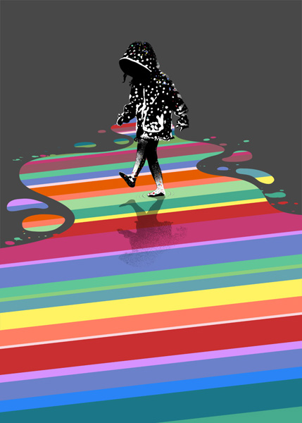 After the Rain, Screen Print by Eelus