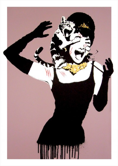Tiffany for Breakfast, Screen Print by Eelus