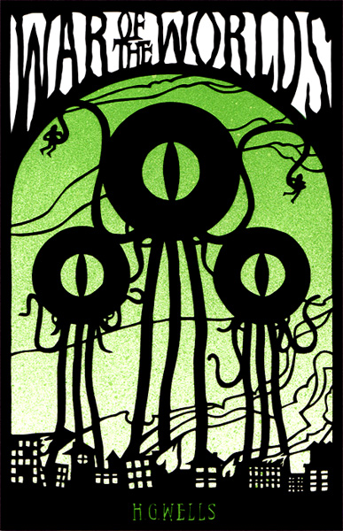 War of the Worlds, Papercut by Eelus