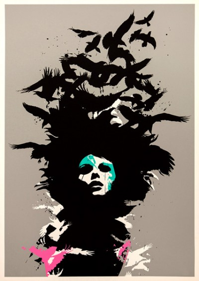 Raven Haired, Screen Print by Eelus