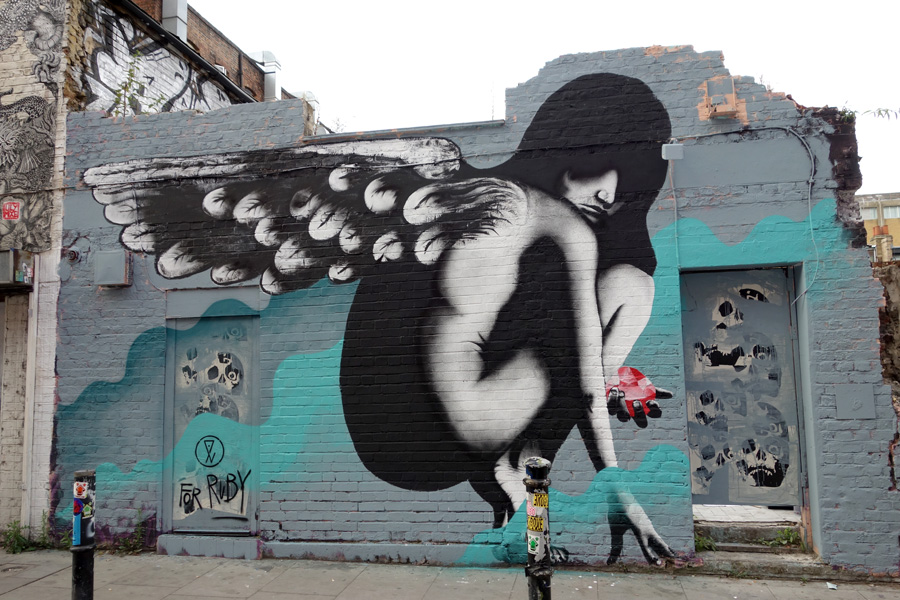 Angel on Hanbury St by Eelus
