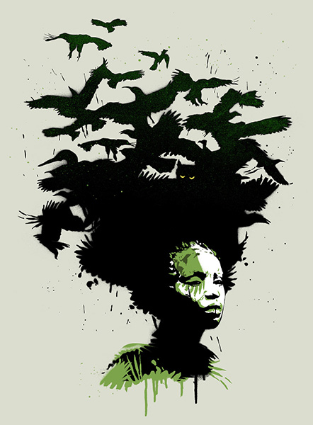 Raven Haired - Gambia Edition screen print