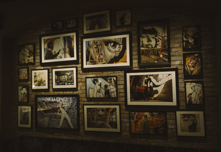 Gallery wall at Vandal, NYC