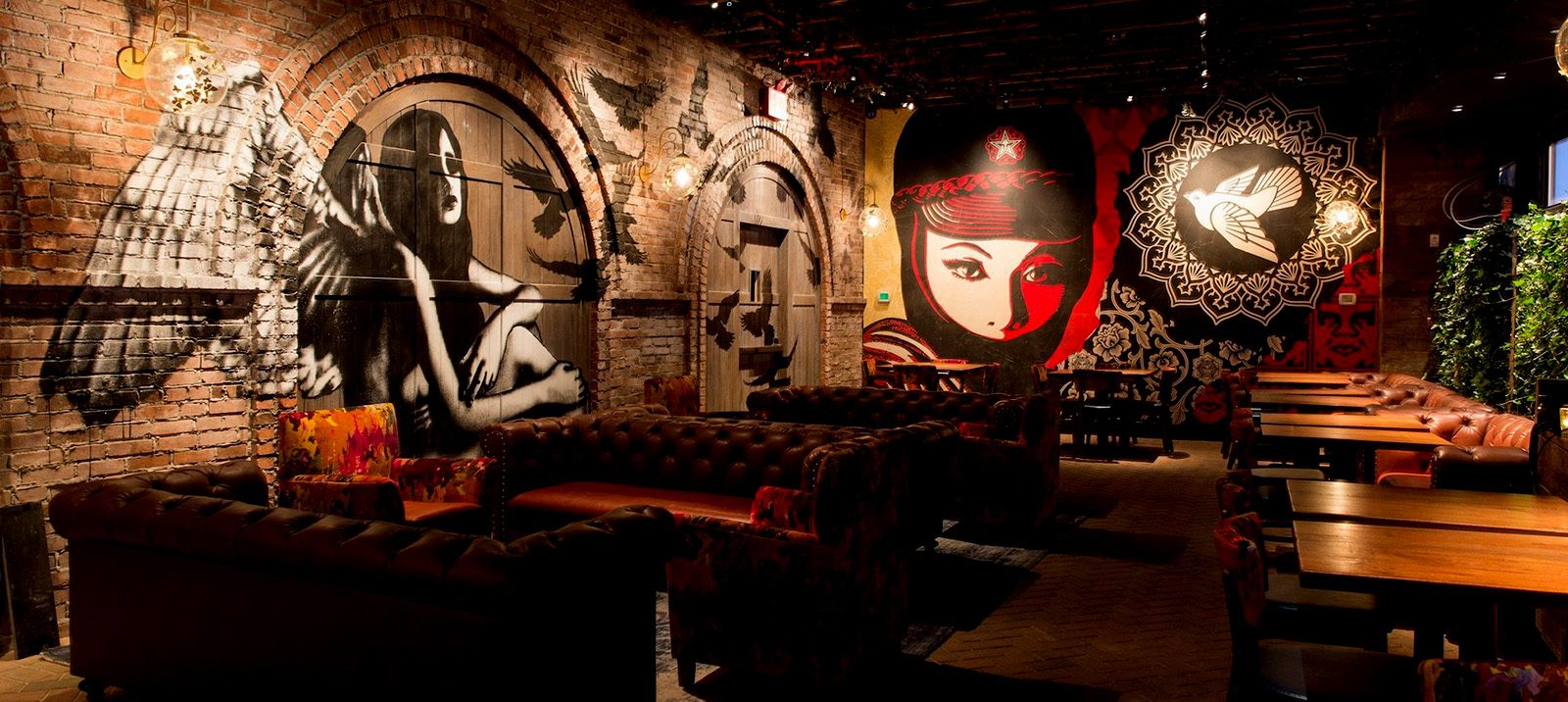 Eelus and Shepard Fairey at Vandal, NYC