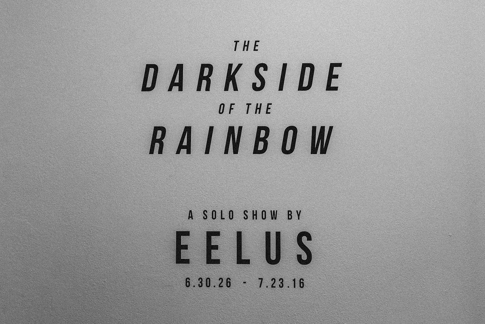 Eelus at Spoke Gallery