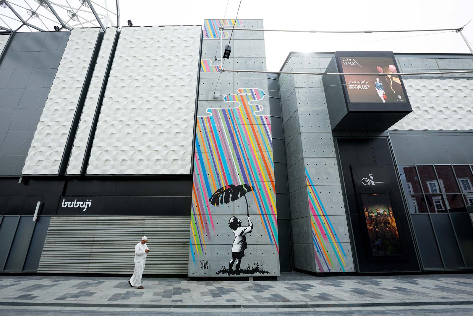 Eelus's mural for Dubai Walls