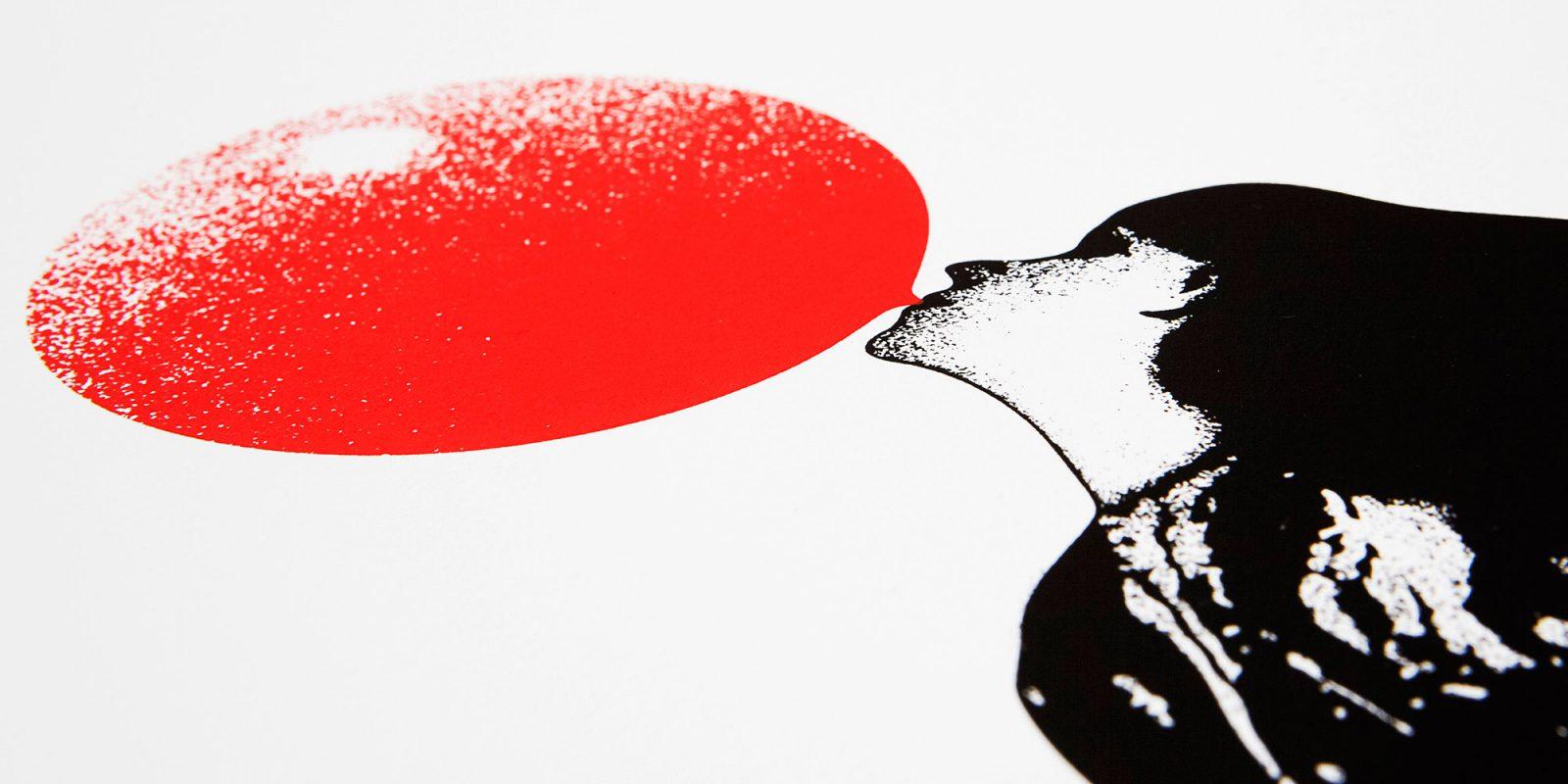 Blow Up Screen print by Eelus