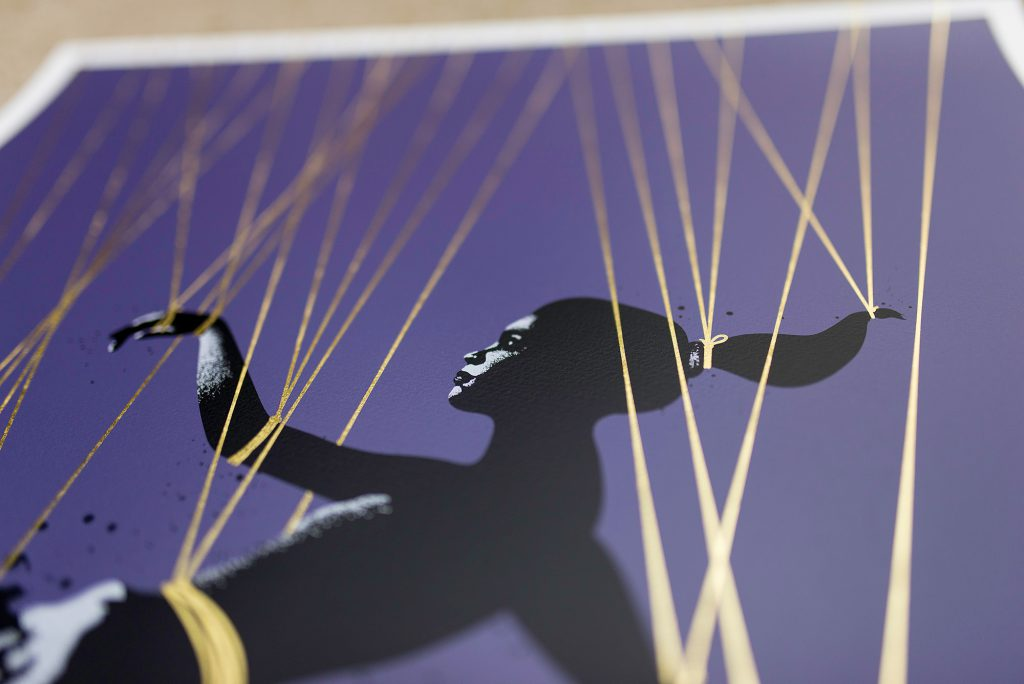 Trip The Light Fantastic - Gold Thread Edition Screen print