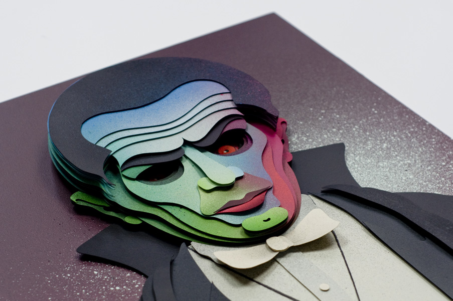 The Vampire, 3D Paper Collage by Eelus