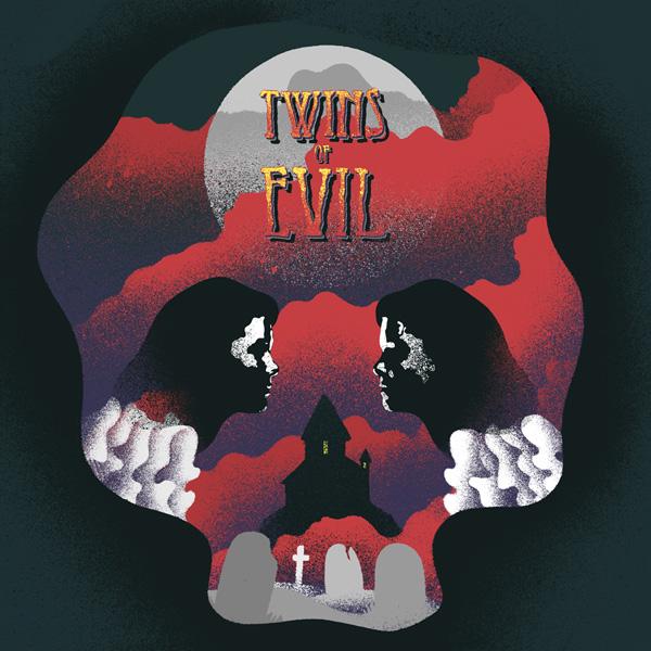 Twins of Evil, Album Artwork by Eelus for Death Waltz Recording Co.