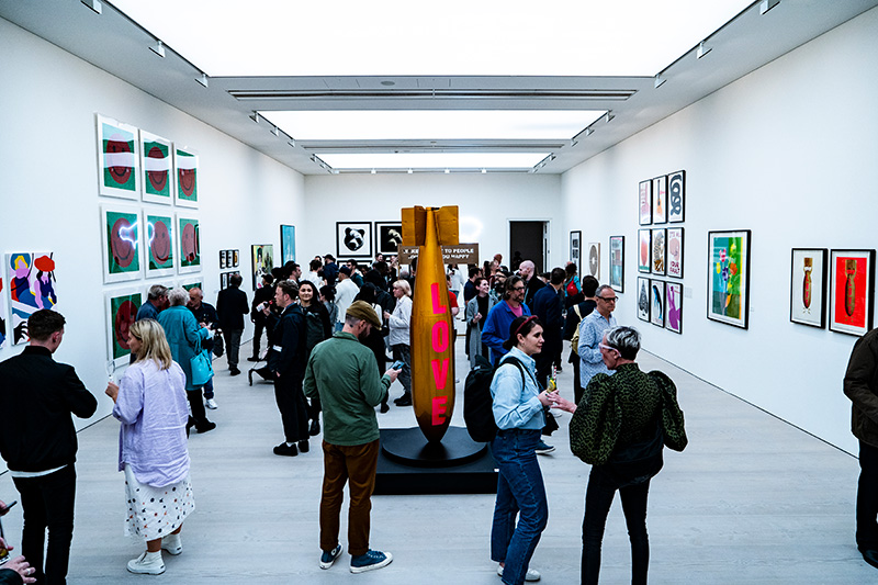 RIGHT HERE, RIGHT NOW group show at Saatchi Gallery, London.