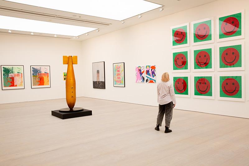 David Buonaguidi, Eelus, Jake & Dinos Chapman, Charming Baker, Kate Gibb (artists) RIGHT HERE RIGHT NOW (19 Aug - 9 Sept 2021). © Piers Allardyce, 2021. Image courtesy of Saatchi Gallery, London